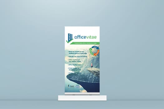 promotional roll up banner design for a show