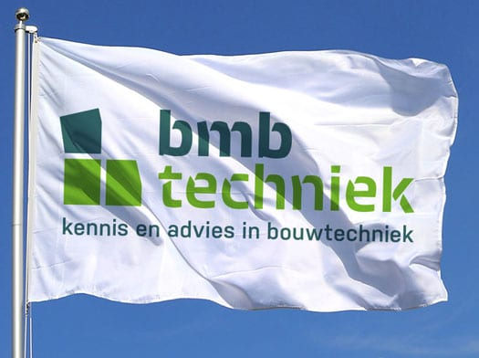 design of flag in corporate style